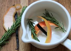 ... grapefruit peel, vanilla, and rosemary... Or juniper berries, lemon