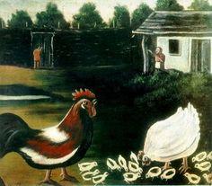 History of Art: Naive Art - Niko Pirosmani Chicken Art, Rare Birds, Art Database, Naive Art, Russian Art, Outsider Art, Animal Paintings, Great Artists, All Art
