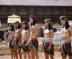 American actor Keanu Reeves (centre) stars as Siddhartha Gautama, who later…