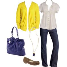Pretty outfit and so easy to change tops and make additional fashon wear!