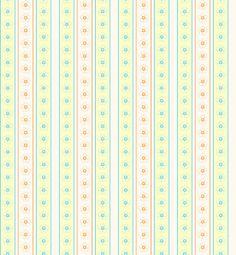 Morandi Sisters Microworld: Printable Wallpapers - Vertical Stripes With Big Flowers - Carte da parati Stampabili