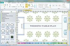 wedding reception layout template
