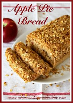 Apple Pie Bread! The perfect fall recipe- makes the whole house smell amazing! by whatscookingwithruthie.com # recipes #bread #apples. I'll be making this for my Christmas guests! Sounds fantastic!