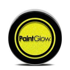 PaintGlow Neon UV Glitter Shaker 5g - Sherbet Lemon