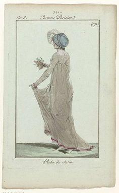 Journal des Dames et des Modes, Costume Parisien, 4 février 1800, An 8 (192) : Robe de satin, Anonymous, 1800