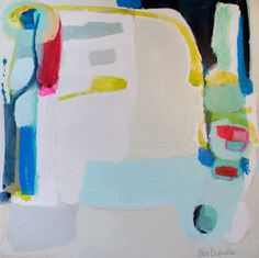 """""""New Space"""" by Claire Desjardins - 48""""x48"""" - Acrylics on canvas."""