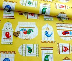 featured on print & pattern 9/21...this is my fabric line How Tweet it is....Linda Solovic©