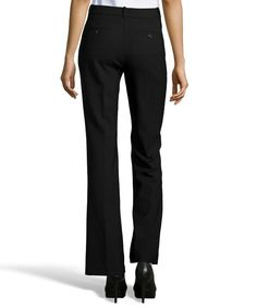 THEORY Black Stretch Wool Blend 'Jotsna' Flat Front Dress Pants. #theory #cloth #pants, leggings & jumpsuits