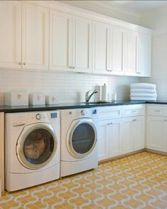 10 Reasons Why You Should Paint Your Laundry Room Yellow | Domino