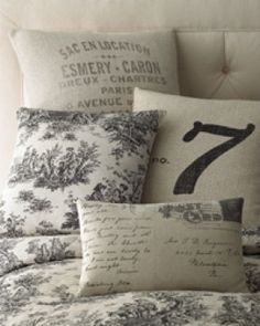 Bridgette Black White French Country Floral Toile Quilt Set | Toile Bedding - Toile Comforters and