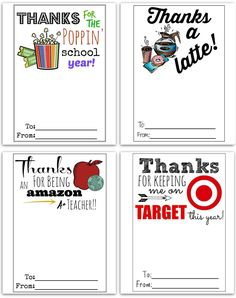 FREE Printable Gift Card Holders for Teacher Gifts – Hip2Save