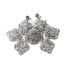 AryA Italian Jewels - Women Rhodium Earrings - Orecchini Donna Rodio