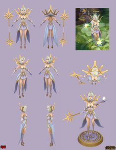 ArtStation - Elementalist Lux: Light, Yekaterina Bourykina cosplay model sheet