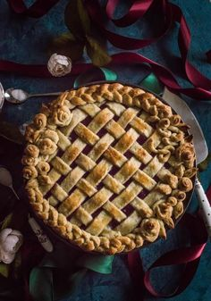 Cherry-Raspberry Amaretto Pie (For the Lazy Cook)