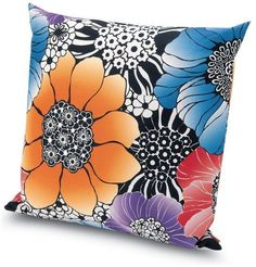 Missoni Home Sorrento Throw Pillow, Multicolor Pink
