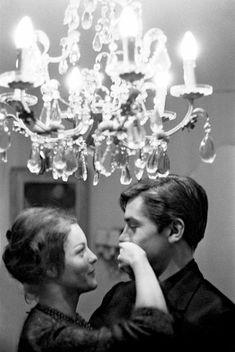 Romy Schneider & Alain Delon, 1959.