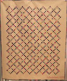 Single Irish Chain Quilt Fabadashery. I like the outside squares ending in a point