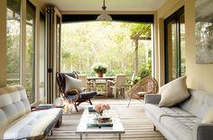 Comfort, elegance and nature. #hunkeconstruction #3seasonroom #design #dreamspace #sunroom