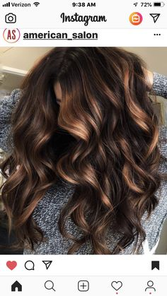The Prettiest New Hair Color For Brunettes Brown Hair Balayage, Brown Hair With Highlights, Hair Color Balayage, Brown Hair Colors, Caramel Balayage, Bayalage, Balayage Hair For Brunettes, Sombre Hair Brunette, Hair Ideas For Brunettes