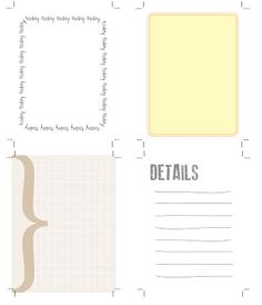 Printable Journaling Cards - Use for Project Life or Mini Albums