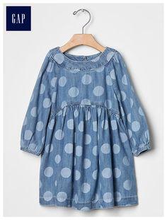 Indigo dot dress