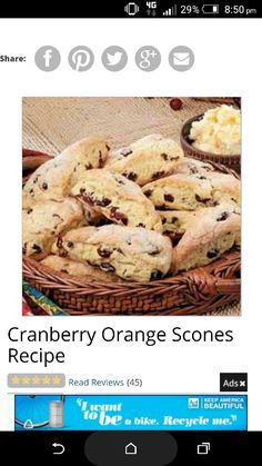 Cranberry orange scones 1