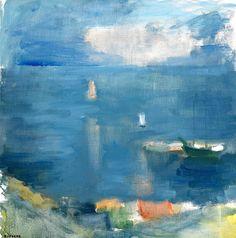 Gustav Rudberg - Boats in the Bay, Hven