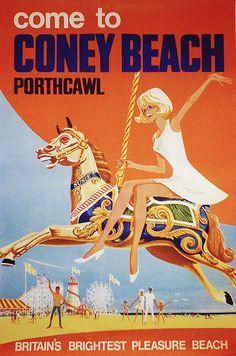Coney Beach • Porthcawl #tourism #tourism (1960s)