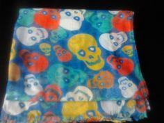 pañuelo de calavera azul