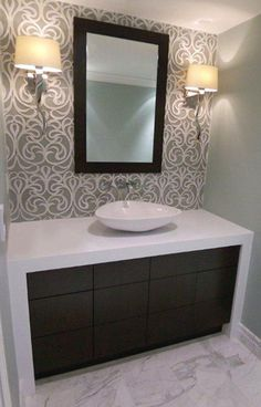 I like the mosaic between the walls over sink