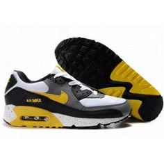 the best attitude 3e409 db2a2 Ken Griffey Shoes Nike Air Max 90 White Grey Yellow Black  Nike Air Max 90  - Sure you can play basketball better with the Nike Air Max 90 White Grey  Yellow ...