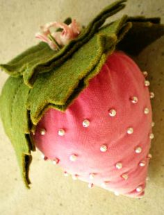 Vintage Pink Strawberry Pin Cushion