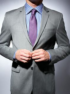 gray suit on gray suits purple ties and mens