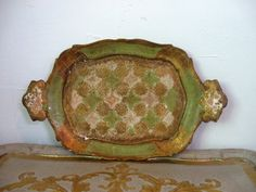 Italian Florentine Paper Mache Tray from Something Charming