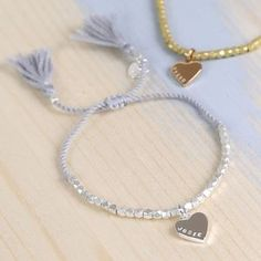 Personalised Faceted Bead Friendship Bracelet With Name