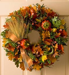 Florists fall wreaths | stunning wreath with acorns,fall leaves, berries 1-800flowers