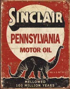 Sinclair Mellowed 100 Million Years Placa de lata