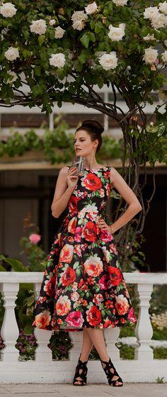 Exotic Amorous Floral Prom Dress @viktoriyasener