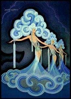French Vintage Folies Bergere Canvas - hardtofind.