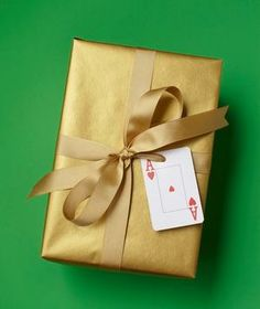 A playing card is a winning stand-in for a gift tag. Numbers 2 to 10 are fun for kids' birthdays; the king and queen of hearts are perfectly suited as valentines.