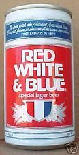 RED WHITE & BLUE SPECIAL LAGER BEER, es Can, WISCONSIN