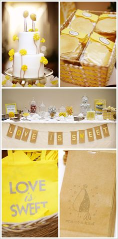 Love this fresh, fun look for a spring party! The cookie packaging is easy and super cute for guests!