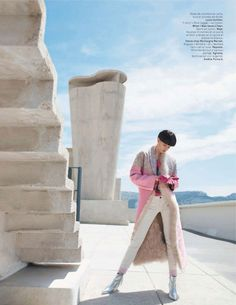 visual optimism; fashion editorials, shows, campaigns & more!: rose radieux: bara holotova by patrik sehlstedt for l'officiel paris september 2013