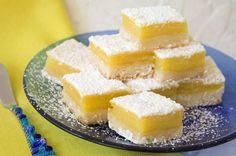 Recipe Of Luscious Lemon Bars - Homemade Luscious Lemon Bars Recipe Lemon Squares Recipe, Squares Recipes, Just Desserts, Dessert Recipes, Dessert Thermomix, Gourmet Cookies, Bar Cookies, Eat Smart, Lemon Recipes