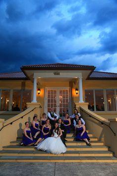 beaux vineyard wedding party sitting