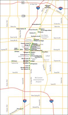 Las Vegas Hotel Map | Find iNeTours.com on Facebook or follow us on Twitter for updates ...
