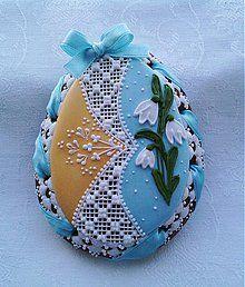 Dekorácie - Veľkonočné medovníkové vajíčko - 3647603 Easter Cookies, Fun Cookies, One Tier Cake, Egg Shell Art, Christmas Tea, Royal Icing Cookies, Cookie Designs, Egg Decorating, Tiered Cakes