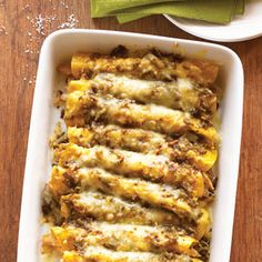 Like all good New Mexico food, these Green Chile Chicken Enchiladas are simple, earthy, and delicious. Its heat depends on the chiles; go with Anaheims if you scorch easily.