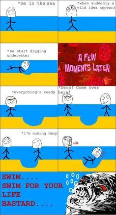 Digging underwater