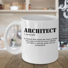 gift for architect, architect gift, funny coffee mug, funny coffee